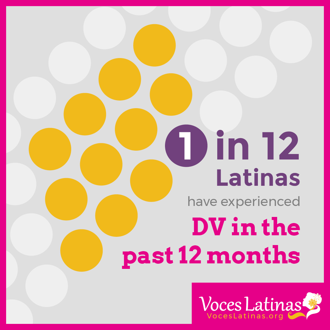 1 in 12 Latinas have experienced DV in the past 12 months.